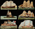 "Non-Sport Cards:Sets, 1889 N119 & N139 Duke Honest Long Cut ""Lighthouses"" &""Types of Vessels"" Partial Sets Pair (2). ..."