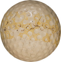 1953 Ben Hogan Match Used & Signed Masters Tournament-Clinching Golf Ball