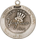 Baseball Collectibles:Others, 1952 New York Yankees World Championship Presentational PocketWatch Presented to Pitching Coach Jim Turner....