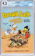 Golden Age (1938-1955):Cartoon Character, Four Color #9 Donald Duck (Dell, 1942) CGC Conserved NM- 9.2 Creamto off-white pages....