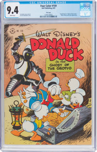 Four Color #159 Donald Duck - File Copy (Dell, 1947) CGC NM 9.4 White pages