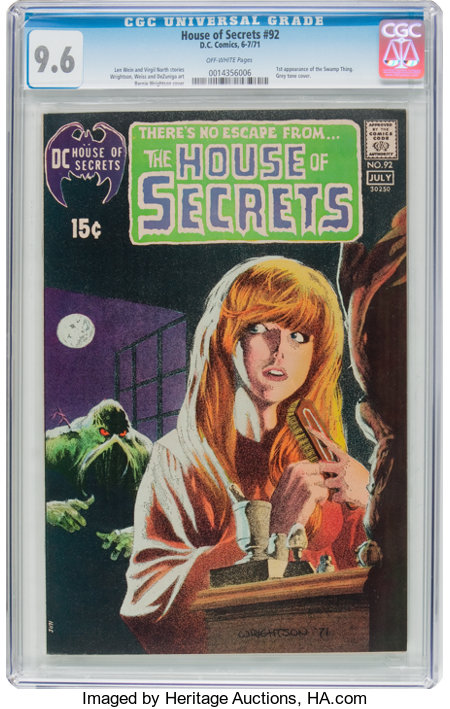 House of Secrets #92 (DC, 1971) CGC NM+ 9.6 Off-white pages....
