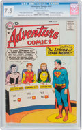 Silver Age (1956-1969):Superhero, Adventure Comics #247 (DC, 1958) CGC VF- 7.5 Off-white to whitepages....