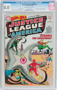 The Brave and the Bold #28 Justice League of America (DC, 1960) CGC VF 8.0 Cream to off-white pages