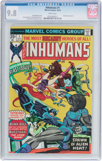 The Inhumans #1 (Marvel, 1975) CGC NM/MT 9.8 White pages