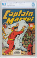 Golden Age (1938-1955):Superhero, Captain Marvel Adventures #11 (Fawcett Publications, 1942) CBCS VF 8.0 Off-white to white pages....