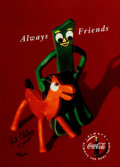 "Animation Art:Poster, Gumby and Pokey - ""Always Friends"" Coca-Cola Ad Signed LimitedEdition Print #161/2000 (Coca-Cola Company/Premavision, c. 1993..."