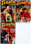 Pulps:Horror, Terror Tales Group of 3 (Popular, 1936-40) Condition: AverageGD.... (Total: 3 Items)