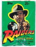 Memorabilia:Trading Cards, Raiders of the Lost Arc Unopened Trading Cards Wax Pack Box(Topps, 1981)....