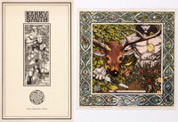 Barry Smith Fantasy Island Portfolio and 3 Prints Group of 4 (c. 1970s).... (Total: 4 Items)