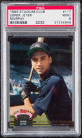 Baseball Cards:Singles (1970-Now), 1993 Stadium Club Murphy Derek Jeter #117 PSA Mint 9....