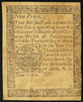 Colonial Notes:Pennsylvania, Pennsylvania April 10, 1777 9d Very Fine.. ...