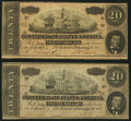 Confederate Notes:1864 Issues, T67 $20 1864 PF-4; PF-6 Cr. 506; Cr. 507.. ... (Total: 2 notes)
