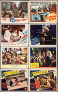 """Movie Posters:Adventure, Typhoon & Others Lot (Paramount, 1940). Lobby Cards (61) (11"""" X14"""") & Photos (7) & Photo Backed on Board (8"""" X 10""""), &Ital... (Total: 70 Items)"""
