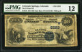 National Bank Notes:Colorado, Colorado Springs, CO - $10 1882 Date Back Fr. 545 The El Paso NBCh. # (W)5283. ...