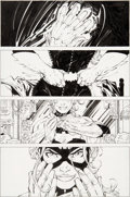 Original Comic Art:Panel Pages, Jim Lee and Scott Williams All-Star Batman & Robin, the BoyWonder #6 Story Page 8 Batgirl Original Art (DC, 2007)...