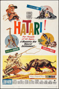 "Movie Posters:Adventure, Hatari! (Paramount, 1962). One Sheet (27"" X 41""). Adventure.. ..."