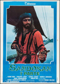 "Movie Posters:Adventure, Sandokan (Titanus, 1976). Country of Origin Italian 2 - Foglis (2)(39"" X 55""). Adventure.. ... (Total: 2 Items)"
