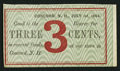 Obsoletes By State:New Hampshire, Concord, NH- Unknown Merchant Issuer 3¢ July 1, 1864 Remainder. ...