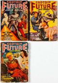Pulps:Science Fiction, Captain Future Group of 3 (Better Publications, 1940-44) Condition:Average GD+.... (Total: 3 Items)