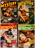 Pulps:Detective, Assorted Detective Pulps Group of 4 (Various, 1943-50) Condition: Average VG.... (Total: 4 Items)