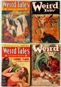 Pulps:Horror, Weird Tales Group of 4 (Popular Fiction, 1931-38) Condition:Average GD.... (Total: 4 Items)