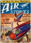 Pulps:Adventure, Air Stories V5#9 (Fiction House, 1939) Condition: FN....