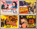 "Movie Posters:Crime, Wildcat Bus & Others Lot (RKO, 1940). Title Lobby Cards (4)(11"" X 14""). Crime.. ... (Total: 4 Items)"
