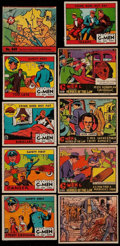 Non-Sport Cards:Lots, 1930's Non-Sports Crime & War Theme Collection (81). ...