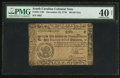 Colonial Notes:South Carolina, South Carolina December 23, 1776 $6 PMG Extremely Fine 40 Net.. ...
