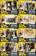 "Movie Posters:Adventure, The Lion Man (United Screen Associates, 1936). Lobby Card Set of 8(11"" X 14""). Adventure.. ... (Total: 8 Items)"