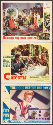 "The Hour Before the Dawn & Others Lot (Paramount, 1944). Lobby Cards (3) (11"" X 14""). War. ... (Total: 3 I..."