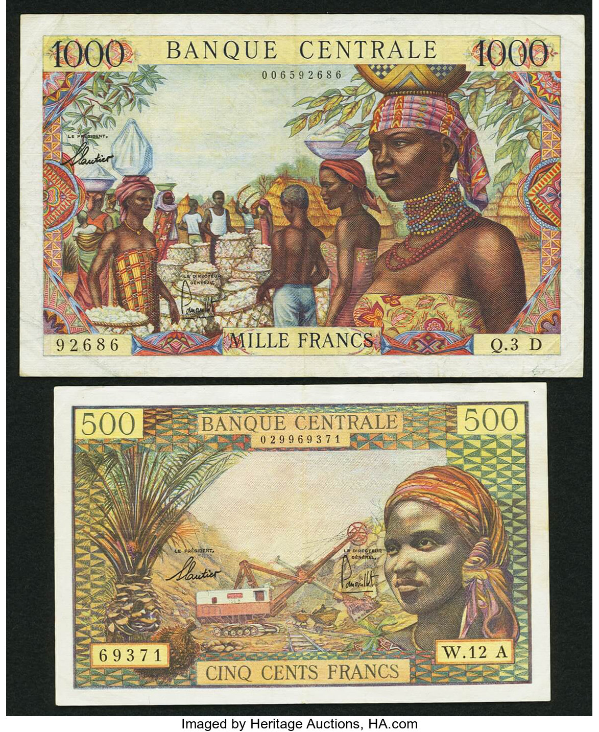 10000 francs 1963s Reproductions EQUATORIALE CENTRAL AFRICA