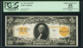 Large Size:Gold Certificates, Fr. 1187 $20 1922 Gold Certificate PCGS Apparent Choice About New 55.. ...