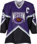 Hockey Collectibles:Uniforms, 1994 Wayne Gretzky All-Star Game Weekend Worn & Signed Western Conference Jersey.. ...