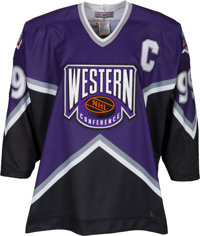 1994 Wayne Gretzky All-Star Game Weekend Worn & Signed Western Conference Jersey