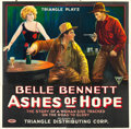 "Movie Posters:Western, Ashes of Hope (Triangle, 1917). Six Sheet (82"" X 82"").. ..."