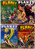 Pulps:Science Fiction, Planet Stories Group of 7 (Fiction House, 1941-42) Condition:Average VG.... (Total: 7 Items)