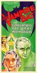 "Movie Posters:Horror, The Vampire Bat (Majestic, 1933). Three Sheet (41"" X 79.75"").. ..."