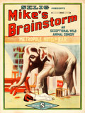 "Movie Posters:Comedy, Mike's Brainstorm (Selig, 1912). One Sheet (27"" X 41"").. ..."