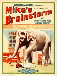 "Mike's Brainstorm (Selig, 1912). One Sheet (27"" X 41"")"