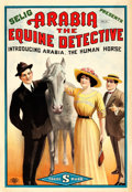 "Movie Posters:Drama, Arabia: The Equine Detective (Selig, 1913). One Sheet (28.5"" X 41"").. ..."