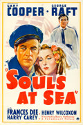"Movie Posters:Adventure, Souls at Sea (Paramount, 1937). One Sheet (27"" X 41"") Style A.. ..."