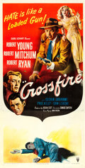 "Movie Posters:Film Noir, Crossfire (RKO, 1947). Three Sheet (41.5"" X 80.75"").. ..."