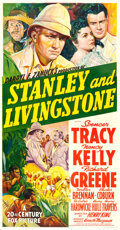 "Movie Posters:Adventure, Stanley and Livingstone (20th Century Fox, 1939). Three Sheet (41""X 79"") Style B.. ..."