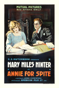 "Movie Posters:Drama, Annie for Spite (Mutual, 1917). One Sheet (27.5"" X 41"").. ..."