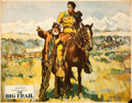 "Movie Posters:Western, The Big Trail (Fox, 1930). Lobby Card (11"" X 14"") Marion JochimsenArtwork.. ..."