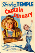 "Movie Posters:Musical, Captain January (20th Century Fox, 1936). One Sheet (27"" X 41"")Style A.. ..."
