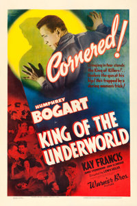 "King of the Underworld (Warner Brothers, 1939). One Sheet (27"" X 41"")"