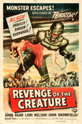 "Movie Posters:Horror, Revenge of the Creature (Universal International, 1955). One Sheet(27"" X 41"") Reynold Brown Artwork.. ..."
